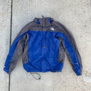 Blue and Gray Vintage The North Face jacket
